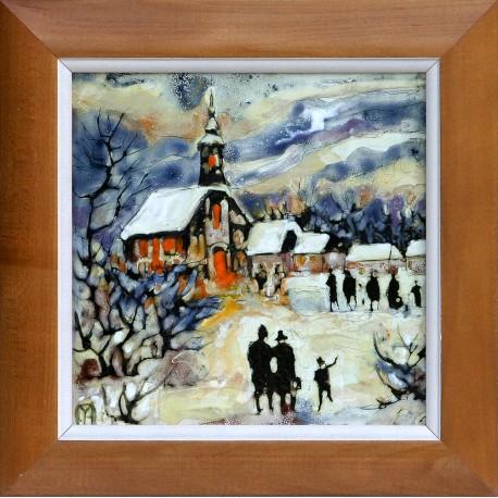Margit Fehér: Christmas mood - 20x20cm