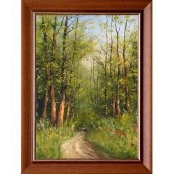 Zoltán Benda: Forest edge - 70x50cm
