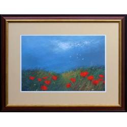 Ede Pósa: Poppy meadow - 36x46cm