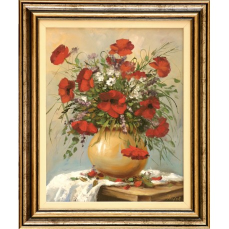 Rajczi Zoltán: Mezei virágok - 38x30 cm