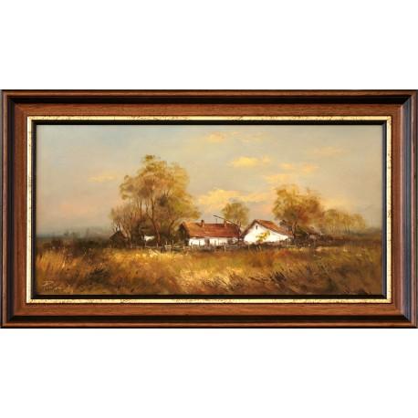 Rajczi Zoltán: Csongrádi tanya - 30x60 cm