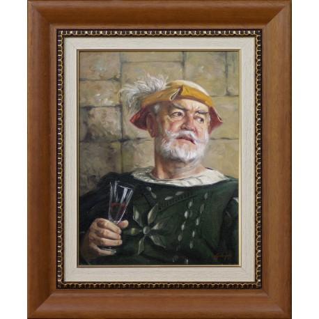 László Gulyás: Captain of the castle - 40x30 cm