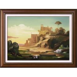 István Árkossy: Castle Hill - 50x70cm