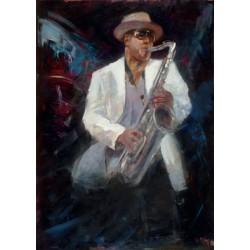 Walter Gábor: Jazz II. - 50x70 cm