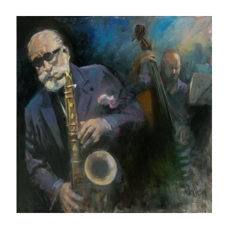 Walter Gábor: Sonny Rollins - 70x70cm