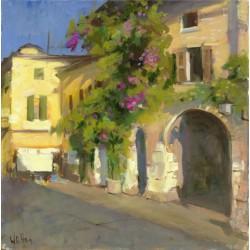 Walter Gábor: Veronai utca - 60x60 cm