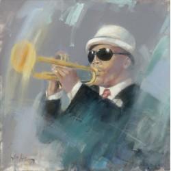Walter Gábor: Jazz - 60x60 cm