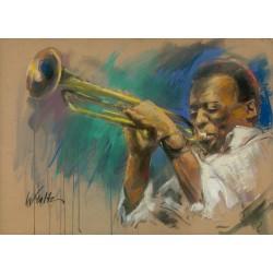 Walter Gábor: Miles Davis I. - 50x70 cm