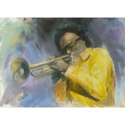 Walter Gábor: Miles Davis II. - 50x70 cm