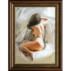 Boros Attila: Ablaknál - 70x50 cm