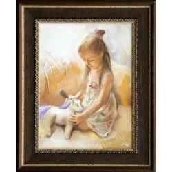 Boros Attila: Dziewczynka z konikiem - 40x30 cm