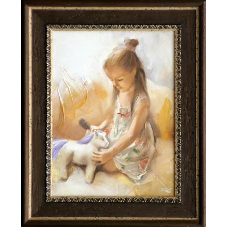 Boros Attila: The little girl - 40x30 cm