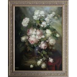 József Fürst: Rose Bouquet - 80x60 cm