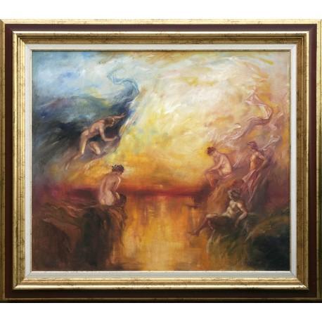 Csomor Katalin: Mitológia - 60x70 cm