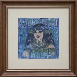 Fodor Ilda: Egyiptomi emlék - 20x20cm