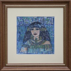 Ilda Fodor: Egyptian memory - 20x20cm
