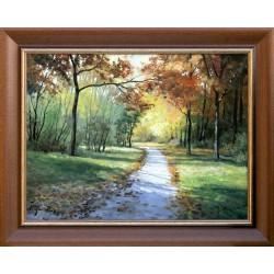 Zoltán Rajczi: Fragment parku - 45x60cm