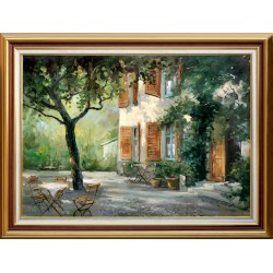 Rajczi Zoltán: Monet háza - 50x70cm