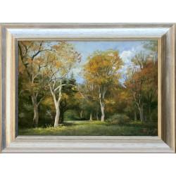 Zoltán Rajczi: Autumn park - 35x50cm