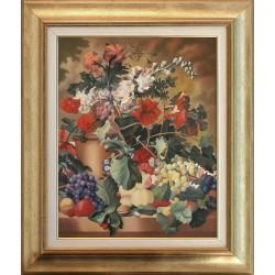 Sógor Endre: Színes virágok - 50x40cm