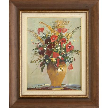 László Zombori: Still life with poppy flowers - 40x30cm