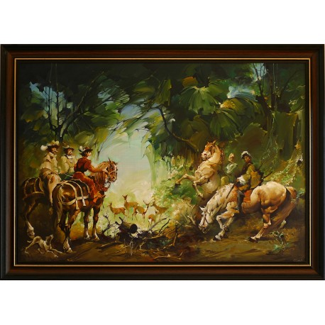 Ferenc Fassel L'ousa: Hunting - 50x70 cm