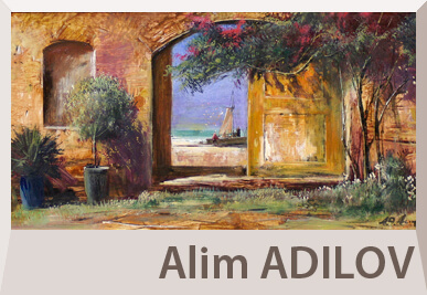 Alim Adilov landscape paintings