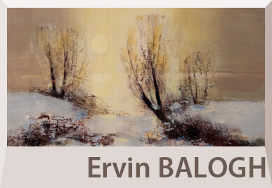Ervin Balogh abstract landscape and still life paintings