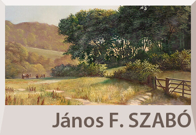 Janos F. Szabo landscape and birds paintings