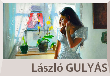 Laszlo Gulyas nude paintings and portraits
