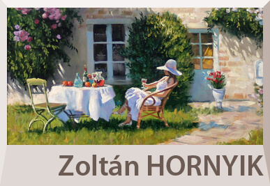 Zoltan Hornyik impressionist paintings, landscape and nudes