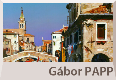 Gabor Papp paintings on offer