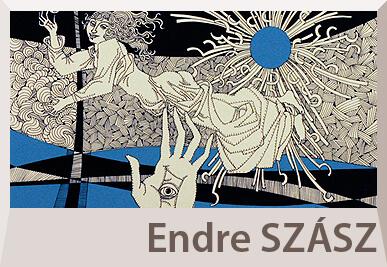 Endre Szász serigrafia and painting