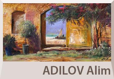Alim Adilov tájkép festmények