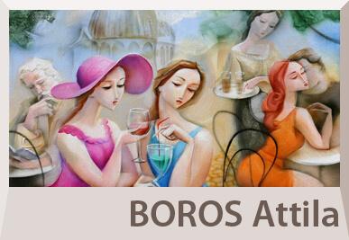 Boros Attila festmények, aktok, figurális festészet
