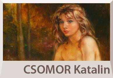 Csomor Katalin akt festmények