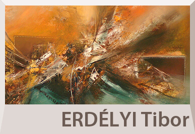 Erdélyi Tibor absztrakt festmények