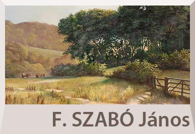 F. Szabó János tájkép festmények
