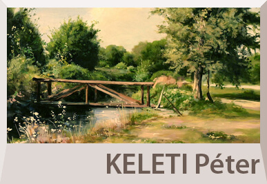 Keleti Péter tájkép festmények