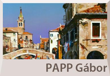 Papp Gábor mediterrán festmények, városképek