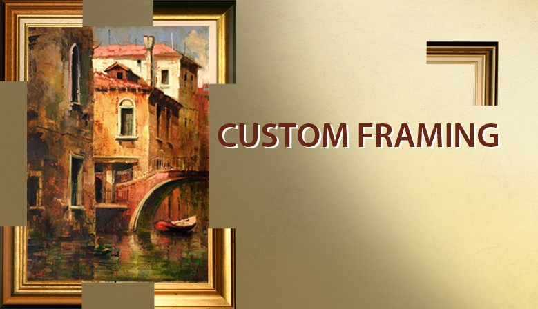 Costum Framing  PRICE LISTED ON THIS SITE ALREADY CONTAINS THE FRAME'S PRICE!  We work with several frame types. Upon request we email you our current offer.